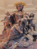 Antwerp -  Carved baroque Madonna in St. Charles Borromeo church Stock Photos
