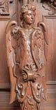 Antwerp - Carved cherub in St. Charles Borromeo church Stock Image