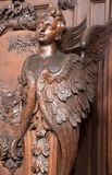 Antwerp - Carved cherub in St. Charles Borromeo church Stock Images