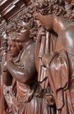 Antwerp - Carved cried angel in St. Charles Borromeo church Stock Photo