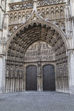 Antwerp Cathedral Portal Royalty Free Stock Images