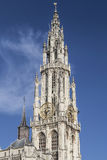 Antwerp Cathedral Spire Stock Images