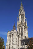 Antwerp Cathedral Towers Stock Photo