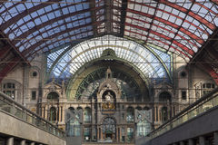 Antwerp Central Railway Station Royalty Free Stock Images