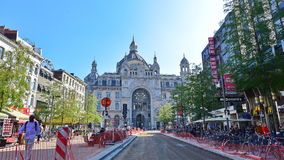 Antwerp Central Railway Station, operated by the national railway company NMBS Stock Image