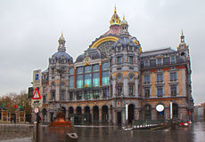 Antwerp. Central railway station. Royalty Free Stock Photography