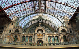 Antwerp Central station  in Antwerp, Belgium. Stock Photo
