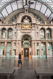 Antwerp Central Station ANTWERP- FEBRUARY 3rd. 2015 Stock Photography