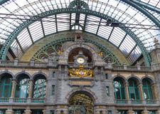 Antwerp central train station Royalty Free Stock Photo
