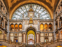 Antwerp Central Train Station in Belgium Royalty Free Stock Image