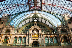 Antwerp central train station Stock Photo