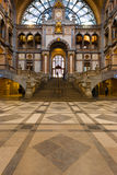 Antwerp Central Train Station Steps Main Hall Stock Images