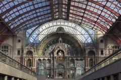 Antwerp centrali stacja kolejowa Obrazy Royalty Free