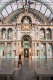 Antwerp centralstation ANTWERP FEBRUARI 3rd 2015 Arkivbild