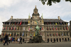 Antwerp City Center Stock Images