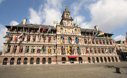 Antwerp City Hall Stock Photos