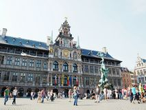 Antwerp City Hall Royalty Free Stock Photography