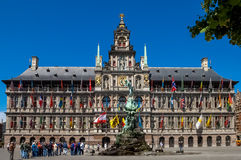 Antwerp City Hall, Great Market Square, Belgium Stock Image