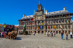 Antwerp City Hall, Great Market Square, Belgium Stock Photography