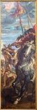 Antwerp - den högra panelen från att lyfta för triptyk av korset (1609 - 1610) vid P P Rubens i domkyrkan Fotografering för Bildbyråer
