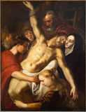Antwerp - Deposition of the cross by Adam van Noort from year 1610 in the cathedral of Our Lady Stock Photography