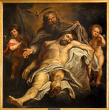 Antwerp - Deposition of the cross by Peter Paul Rubens in Sint-Willibrorduskerk Stock Image