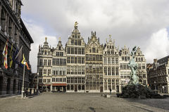 ANTWERP - FEBRUARY 2ND 2015  Antwerp, Grote Markt. Royalty Free Stock Photos