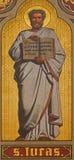Antwerp - Fresco of st. Luke the Evangelist in presbytery of Joriskerk or st. George church from 19. cent. Stock Images