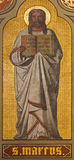 Antwerp - Fresco of st. Mark the Evangelist in presbytery of Joriskerk or st. George church from 19. cent. stock photography
