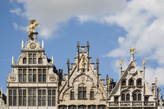 Antwerp Guild houses Stock Images