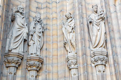 Antwerp - Holys of the side portal on the cathedral of Our Lady Royalty Free Stock Image