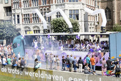 Antwerp Homoseksualna duma 2014 Zdjęcia Royalty Free