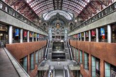 antwerp järnvägstation Arkivfoto