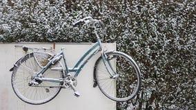 Antwerp jest onder śniegiem, pierwszy śnieg w zimie obrazy stock