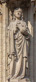 Antwerp - Jesus Christ the Pantokrator statue on the main portal on the cathedral of Our Lady Royalty Free Stock Photography