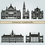 Antwerp Landmarks Royalty Free Stock Photography