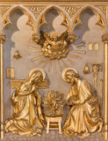 Antwerp -  Nativity relief from 19. cent. in altar of Joriskerk or st. George church Royalty Free Stock Photography