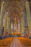 Antwerp - Nave of Joriskerk or st. George church from 19. cent. Royalty Free Stock Image