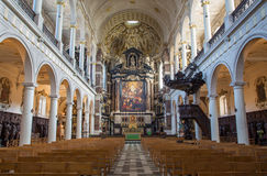 Antwerp - Nave of St. Charles Borromeo church Stock Image