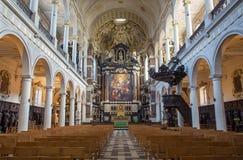 Antwerp - Nave of St. Charles Borromeo church Stock Image