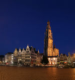 Antwerp by Night Stock Photography