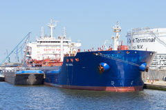Antwerp oil tanker Stock Image