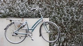 Antwerp is onder snow, first snow in the winter. stock images