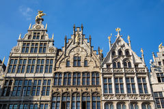 Antwerp - Palaces of Grote Markt Royalty Free Stock Photography