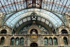 Antwerp railway station Royalty Free Stock Images