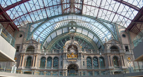 Antwerp Railway Station Royalty Free Stock Photo
