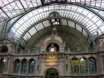 Antwerp Railway Station. Beautiful railway station in Antwerp, Belgium royalty free stock image