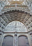 Antwerp -  Relief of Last judgment on the main portal on the cathedral of Our Lady Royalty Free Stock Images