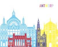 Antwerp skyline pop Stock Images