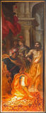 Antwerp - St. John baptysta dla Herodes Van Balen H. De Oude jako część tryptyka w katedrze Nasz dama (1560-1632) Obrazy Royalty Free